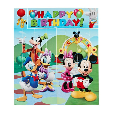 Mickey Mouse Wall Party Decorations 5pc