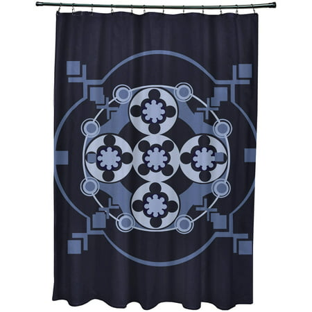 Simply Daisy 71 X 74 Bandana Rama Geometric Print Shower Curtain