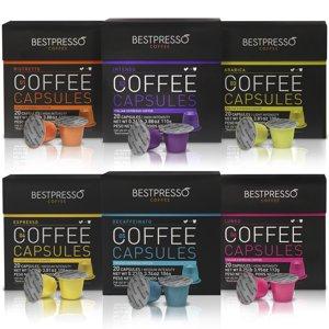 Bestpresso Premium Nespresso Coffee Pods, Variety Pack, 120 Count