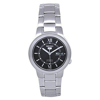seiko snka23 mens watch stainless steel seiko 5 automatic black dial