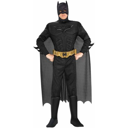 Batman The Dark Knight Rises Muscle Chest Deluxe Men's Adult Halloween Costume - Funny Easy Mens Halloween Costumes