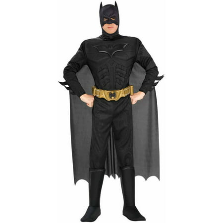 Batman The Dark Knight Rises Muscle Chest Deluxe Men's Adult Halloween Costume (Batman Onesies For Adults)