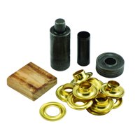 General Tools Grommet Kit with 12 Solid Brass Grommets, 1/2-Inch