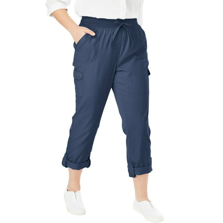 Woman Within Plus Size Convertible Length Cargo Pant ()