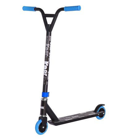 KOBE EDGE Kick Pro Scooter 2 Wheel - Reinforced Steel - Curved T-bar - Teens, Kids 5-yo and above - Blue - image 1 de 11