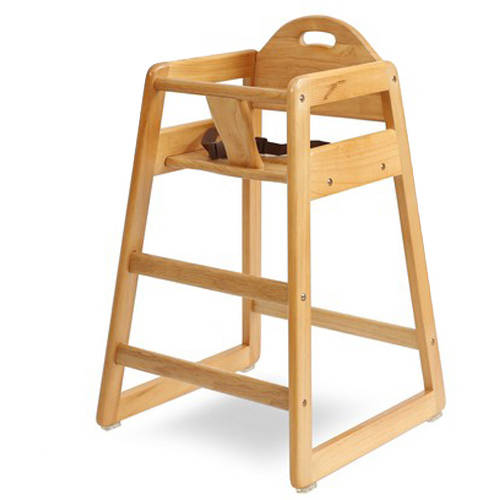 LA Baby Solid Wood High Chair Choose your Finish