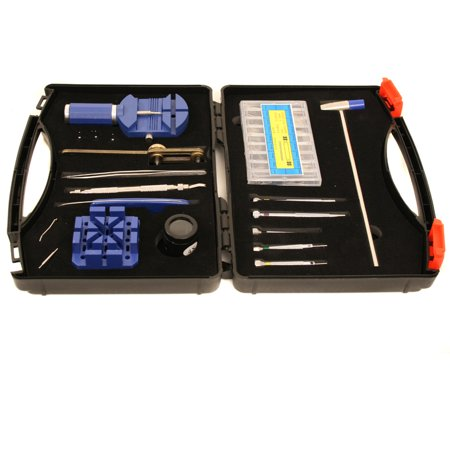 Watch Repair Tool Kit - Tools for Band Sizing, Battery Changing, Link Removal Compact Storage