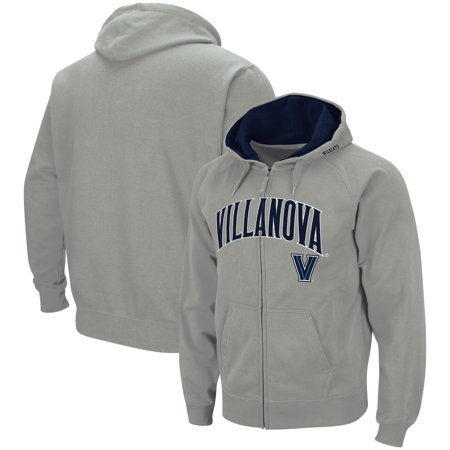 Villanova Wildcats Colosseum Arch & Logo Tackle Twill Full-Zip Hoodie - Gray