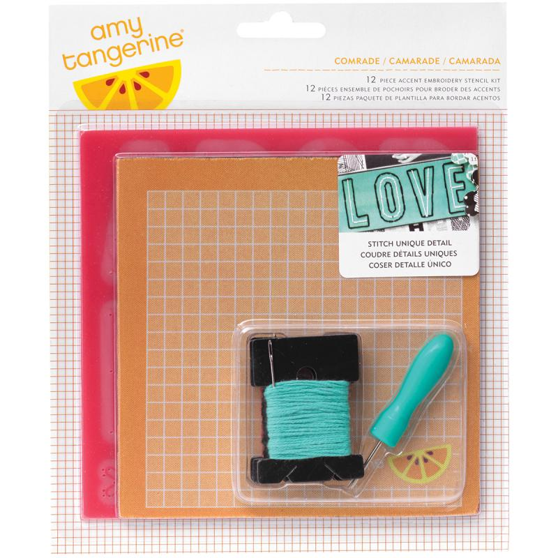 Amy Tan Stitched Embroidery Stencil Kit 12 Pieces-comrade