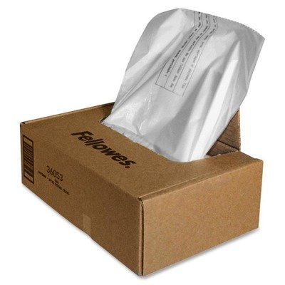 Fellowes 36053 20-Gallon Shredder Bags (100 bags - per Box)