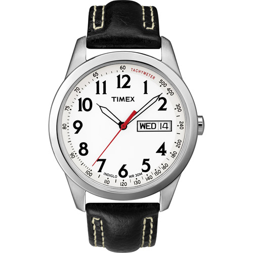 Timex Men's Classic Leather Strap Watch