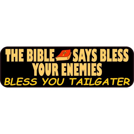 10in x 3in Bless You Tailgater Bible Bumper Sticker Vinyl Religious Decal