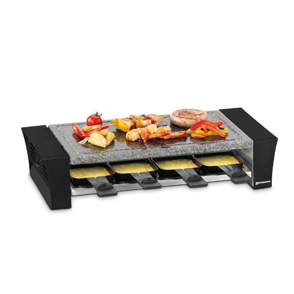 Swissmar 8 Person Ticino Raclette Grill With Granite Stone