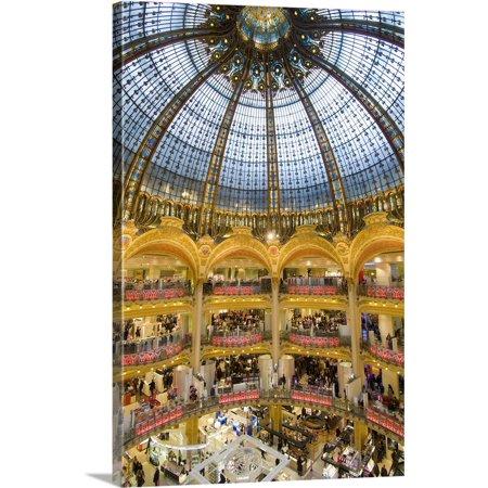 Great BIG Canvas   Ian Cumming Premium Thick-Wrap Canvas entitled Domed Central Area Of Galeries Lafayette, Paris, (Lafayette Wrap)
