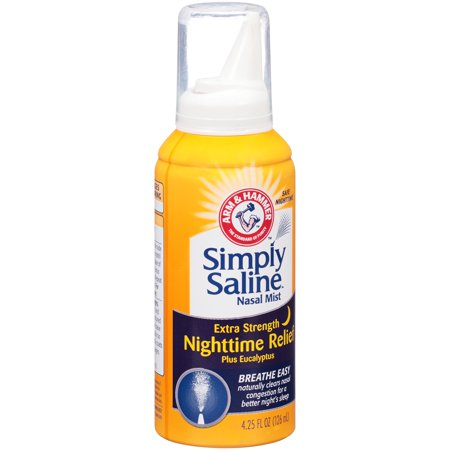 Arm   Hammer  Simply Saline  Extra Strength Nighttime Relief Nasal Mist 4 25 Fl  Oz  Spout Top Can