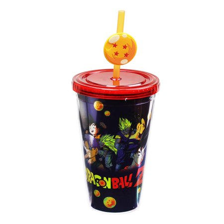 Dragon Ball Z 18oz Carnival Cup with Straw
