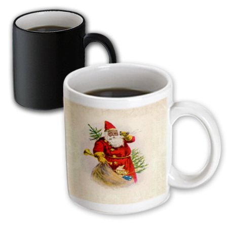 (3dRose Illustration Of African American Santa Claus, Magic Transforming Mug, 11oz)
