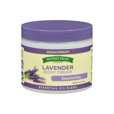2 Pack Natures Truth Aromatherapy Lavender Rejuvenating Body Cream 4oz Each (Lavender Cream)