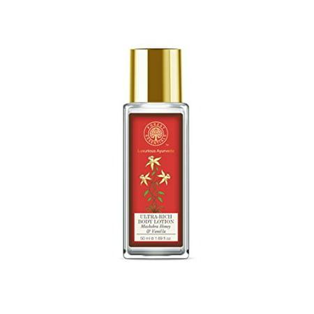 Forest Essentials Hand and Body Lotion, Mashobra Wild Honey and Vanilla, 50ml Essentials Hand Lotion