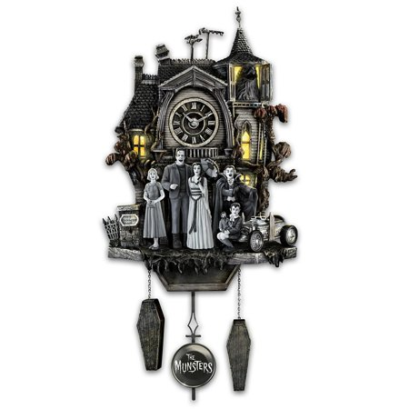 The Munsters Cuckoo Clock with Flickering Lights and Music by The Bradford (Bradford Exchange Bunny)