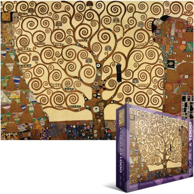 Eurographics EUROPZ-6059 Jigsaw Puzzle 1000 Pieces 19. 25 inch X26. 5 inch -Klimt - Tree Of Life