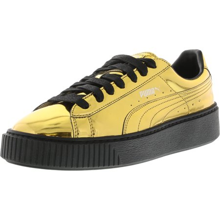 043da5ffa5c24b PUMA - Puma Women s Basket Platform Metallic Gold   Black Ankle-High  Fashion Sneaker - 9.5M - Walmart.com