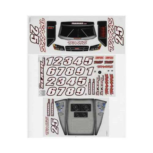 7013 Decal Sheets 1/16 Slash Multi-Colored