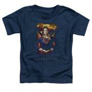 Supergirl Standing Symbol Little Boys Shirt