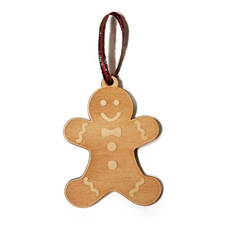 Gingerbread Man Cookie Cutout Laser Engraved Wooden Christmas Tree Ornament Gift Seasonal Decoration](Tree Cutouts)