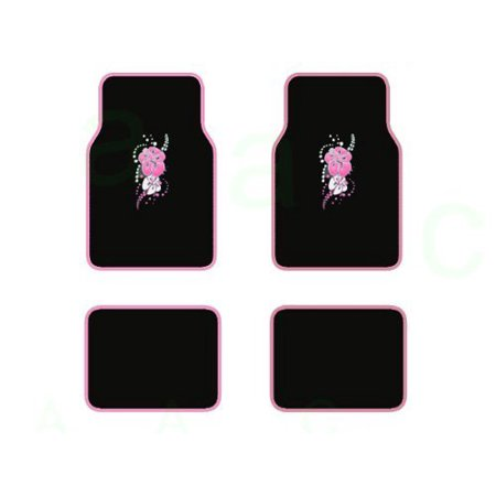 A Set Of 4 Universal Fit Plush Carpet With Vinyl Trim Floor Mats For Cars   Trucks   Tribal Pink  Usa  Brand Bdk