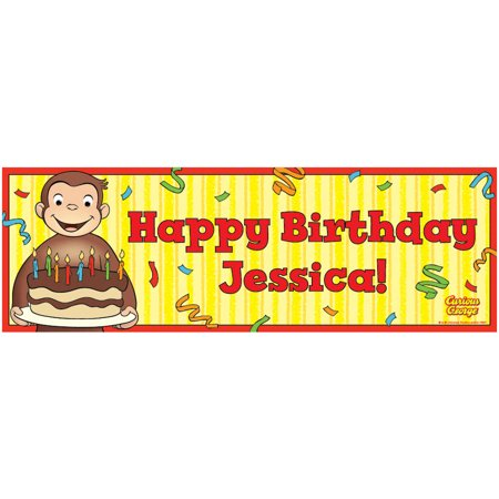 Personalized Curious George Happy Birthday - Happy Birthday Personalized Banner