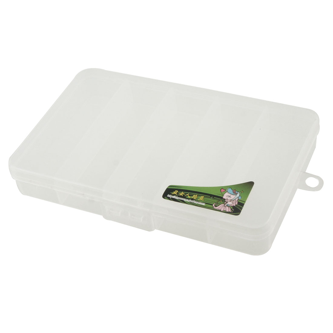 Unique Bargains 5 Compartments Fishing Tackle Box Hook Lure Case by