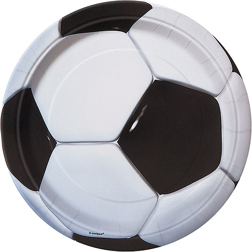 "9"" Soccer Party Plates, 8ct"
