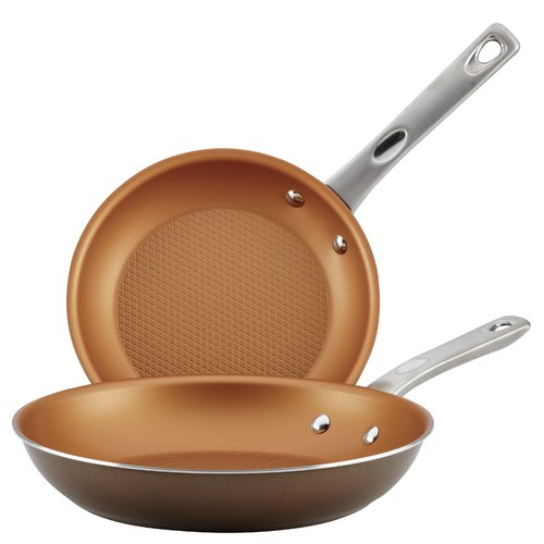Ayesha Curry Home Collection Nonstick Skillet S/2, Brown Sugar