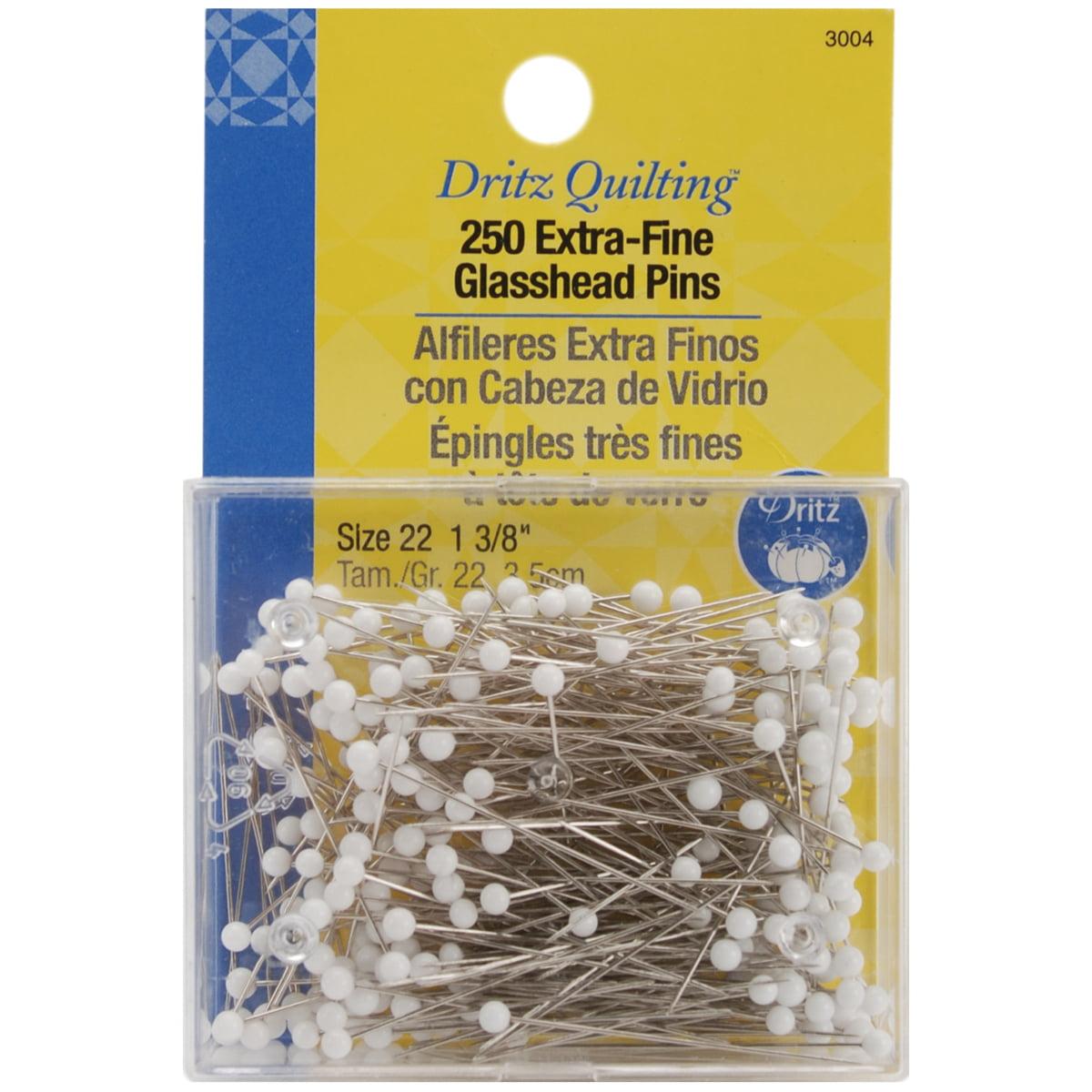 "Dritz Quilting Extra Fine Glasshead Pins, 1-3/8"", 250/pkg"