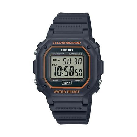 Casio Men's Illuminator Water Resistant Digital Watch - Gray (Thick Link Water Resistant Watch)