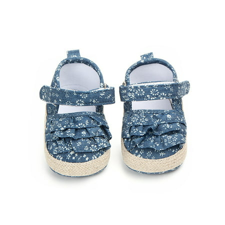 BOBORA Autumn Baby Girl Cute Soft Crib Shoes Sole Anti-slip Flower Pattern First Walkers