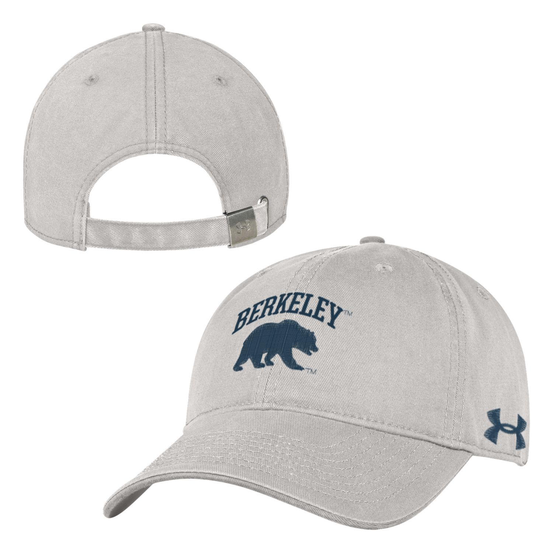 UC Berkeley Cal Under Armour Men's Low Profile Hat-Stone