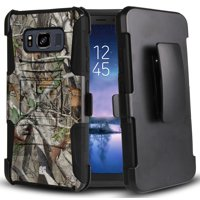 Galaxy S8 Active Camo Case, AUTUMN CAMOUFLAGE LEAF/TREE REAL WOODS CASE with KICKSTAND + BELT CLIP HOLSTER FOR SAMSUNG GALAXY S8 ACTIVE SM-G892A