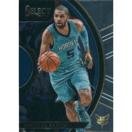 State Hornets Basketball - 2017-18 Panini Select #20 Nicolas Batum Charlotte Hornets Basketball Card