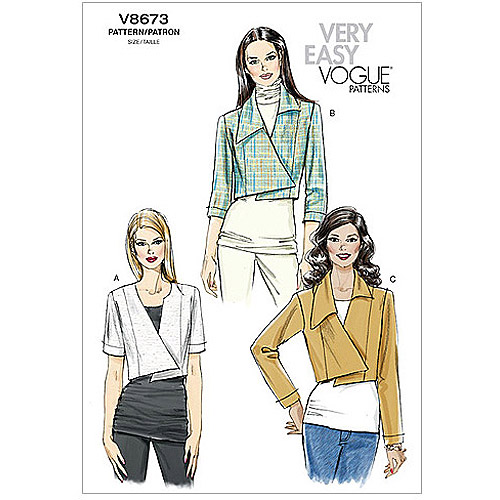 Vogue Pattern Misses' Jacket, AA (6, 8, 10, 12)