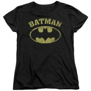 Batman DC Comics Vintage Collegiate Bat Logo Women's T-Shirt Tee