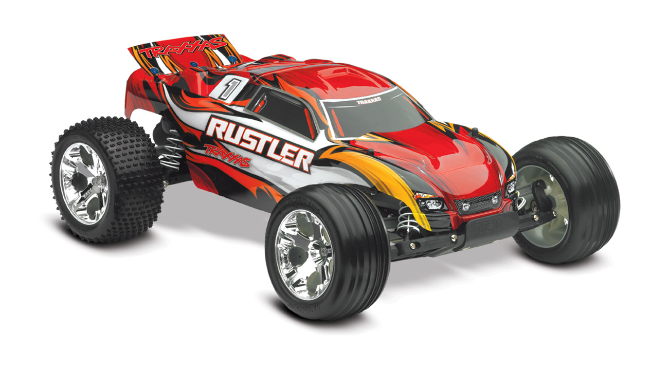 Traxxas 370541T1 Rustler Stadium Truck RTR, WTQ 2.4 GHz, Xl-5, Red by TRAXXAS