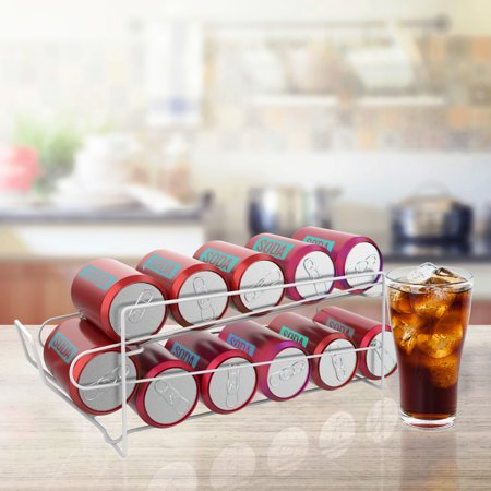 2-Tier Can Dispenser- Organizer Holds 12 Standard Food or Soda Cans by Lavish