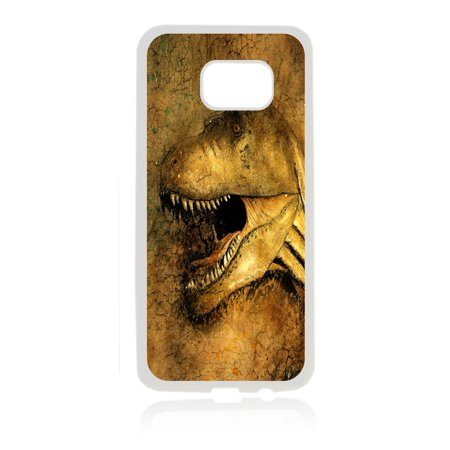 Grunge Dinosaur Design White Rubber Thin Case Cover for the Samsung Galaxy s8 Plus / s8+/ s8p - Samsung Galaxy s8 Plus Accessories - s8 + case