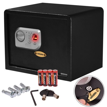 costway 15 39 39 biometric fingerprint electronic digital wall safe box keypad lock security. Black Bedroom Furniture Sets. Home Design Ideas