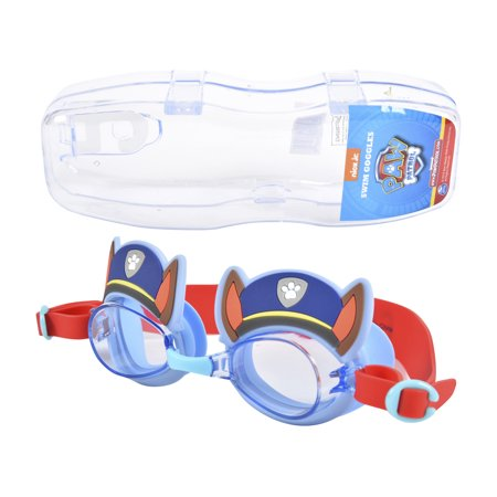 PAW PATROL Kid's Swim Goggles With Reusable Storage Case ()