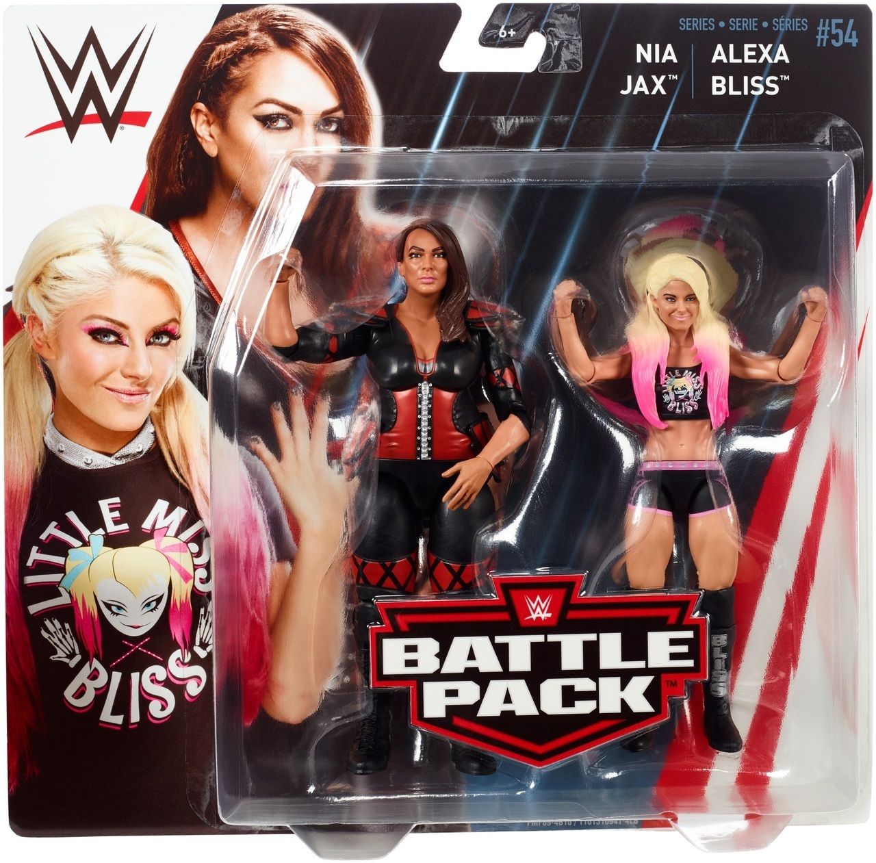 Alexa Bliss & Nia Jax WWE Mattel Battle Pack Series 54 Action Figures