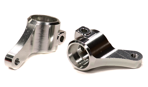 Integy RC Toy Model Hop-ups T8675SILVER Billet Machined Steering Knuckles for 1 10 Traxxas... by Integy