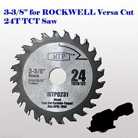 24t Blade - MTP® Pack of 1 /3/7,  24T Carbide Tip 3-3/8 inch WOOD Circular Saw Blade for Rockwell Versacut Versa Cut RK3440K , Makita Cordless 3-3/8